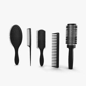 brush set hair 3D