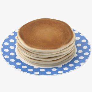 3D model pancakes plate