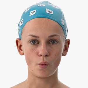 3D rhea human head cheek