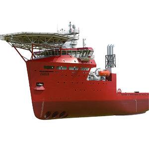 platform supply vessel 3D