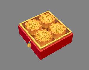 mooncake gift 3D model