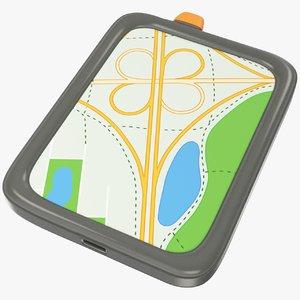 3D cartoon gps navigator
