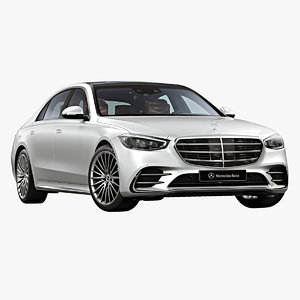 2021 mercedes-benz s-class long 3D model