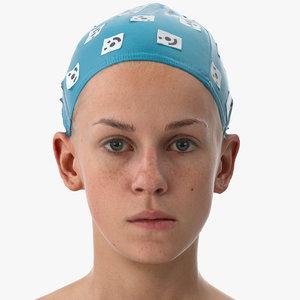rhea human head jaw 3D model