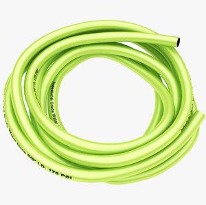 3D garden hose yellow model