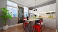 3D Kitchen design dining room model