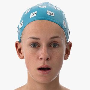 3D rhea human head fear model