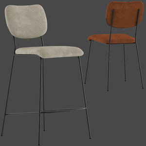 globewest tommy barstool chair 3D model