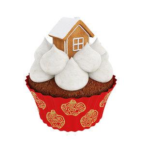 cupcake gingerbread house model