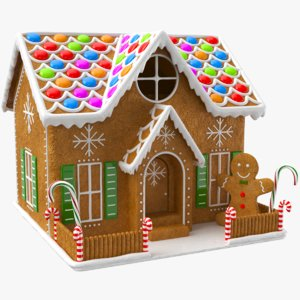 3D real ginger bread house