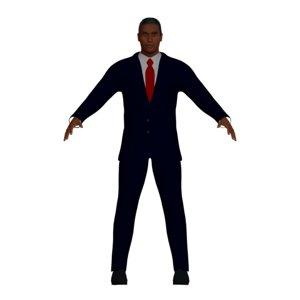 black businessman navy blue model