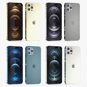 colors apple iphone 12 3D model