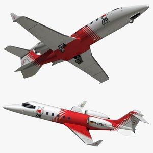 3D model bombardier learjet 60 ambulance