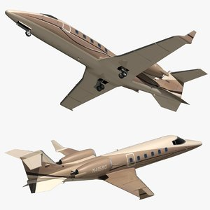 bombardier learjet 60 private 3D