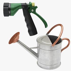 3D model hose watering