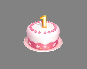 3D birthdaycake happybirthday model