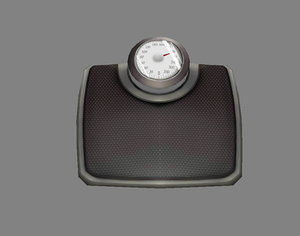 3D model loseweight electronicscale