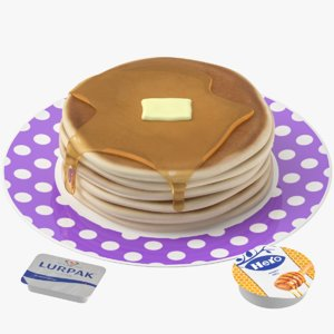 pancakes set model