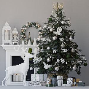 tree gifts deer 3D model