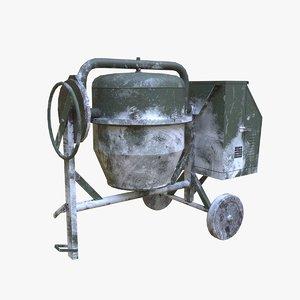 3D concrete mixer model
