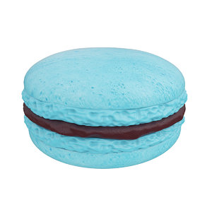 3D macaroon blue