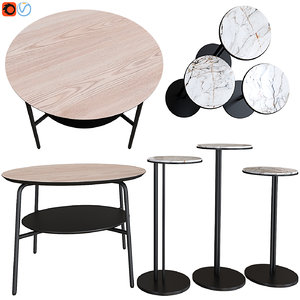coffee table halmar genua 3D