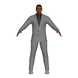 business man grey suit model