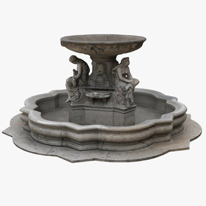 3D fountain statues