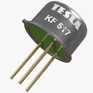 tesla kf517 pnp silicon 3D