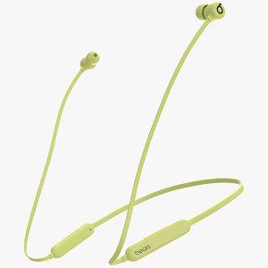 3D model beats flex wireless earphones