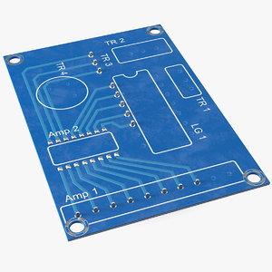 printed circuit board 3D model