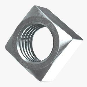 3D model square nut