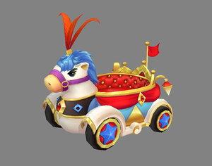 3D children wagon