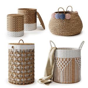 3D set baskets model