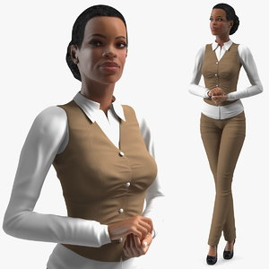 light skin business style 3D model