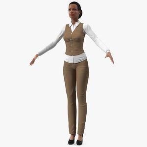 3D light skin business style