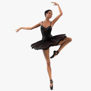 light skinned black ballerina 3D model