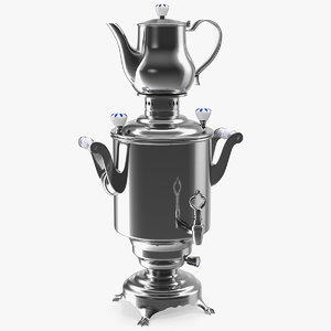 modern russian samovar set 3D model
