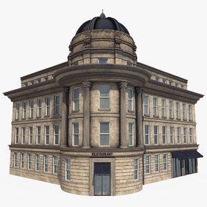 newcastle building pbr modular 3D model