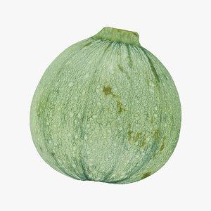 3D zucchini 02 raw scan