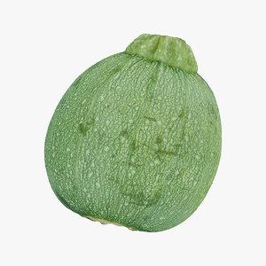 3D zucchini 03 raw scan model