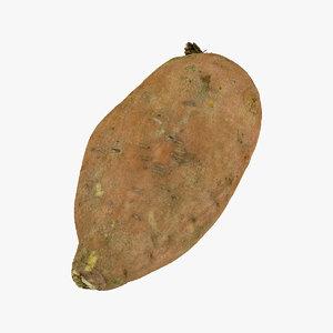 sweet potato 03 raw 3D model