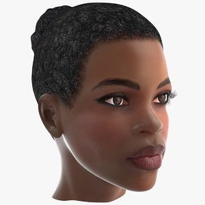 3D afro american woman head