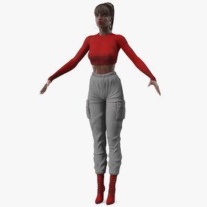 dark skin city style 3D model