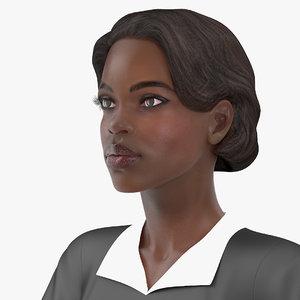 dark skin judge woman rigged model