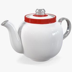 3D vintage soviet teapot