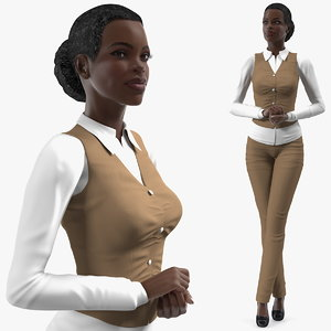 3D dark skin business style