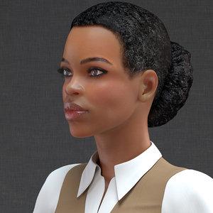 3D model light skin business style