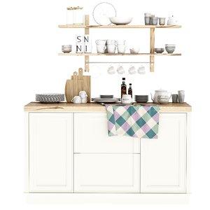 kitchen supplies 3D model