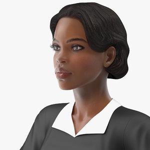 light skin judge woman rigged 3D model